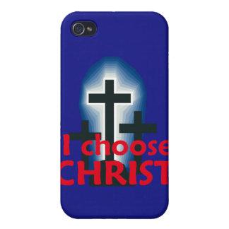 Elijo la caja de la mota de Cristo iPhone 4/4S Fundas