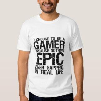 Elijo ser una camiseta divertida del videojugador remera