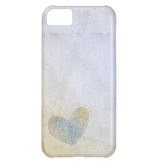 Eliminado diseño artístico del texto del corazón funda para iPhone 5C