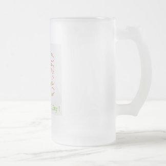 eliminate, discrimination, human, day, internation frosted glass beer mug