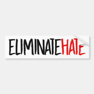 Eliminate Hate - Feminist Bumper Sticker -