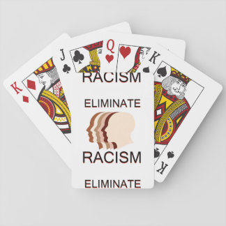 Eliminate racism playing cards