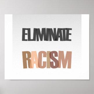 Eliminate racism poster
