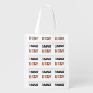 Eliminate racism reusable grocery bag