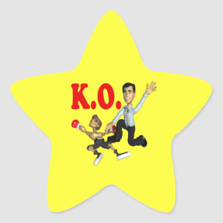 Elimine 2 pegatina en forma de estrella