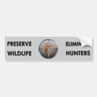 Elimine a los cazadores pegatina para auto