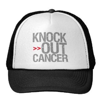 Elimine al cáncer - cáncer de cerebro gorros