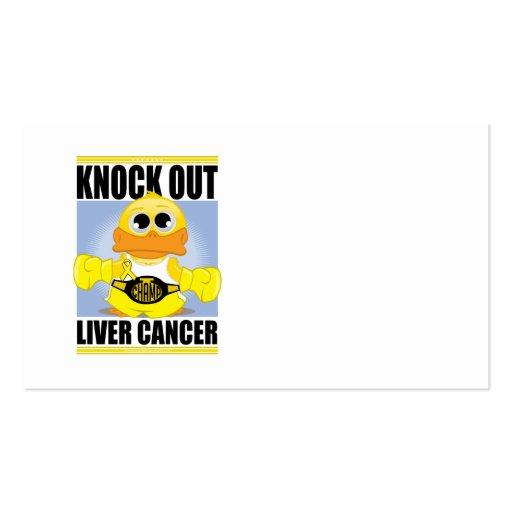 Elimine al cáncer de hígado tarjetas de visita