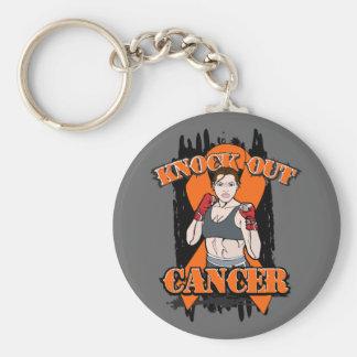 Elimine al cáncer de la leucemia llavero redondo tipo pin