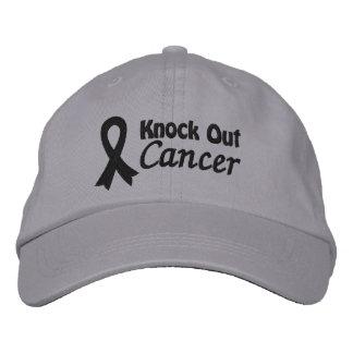 Elimine al cáncer del melanoma gorra de beisbol bordada