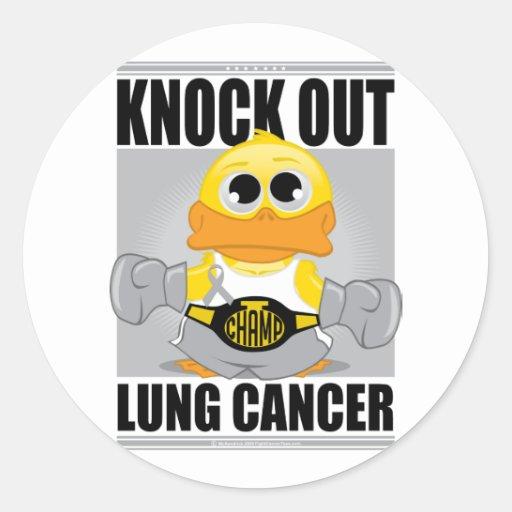 Elimine el cáncer de pulmón pegatina redonda