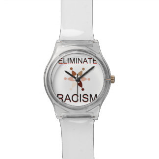 Elimine el racismo relojes de mano