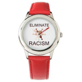 Elimine el racismo relojes de pulsera