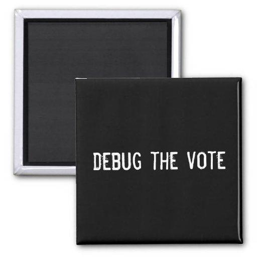 elimine errores del voto imán para frigorifico