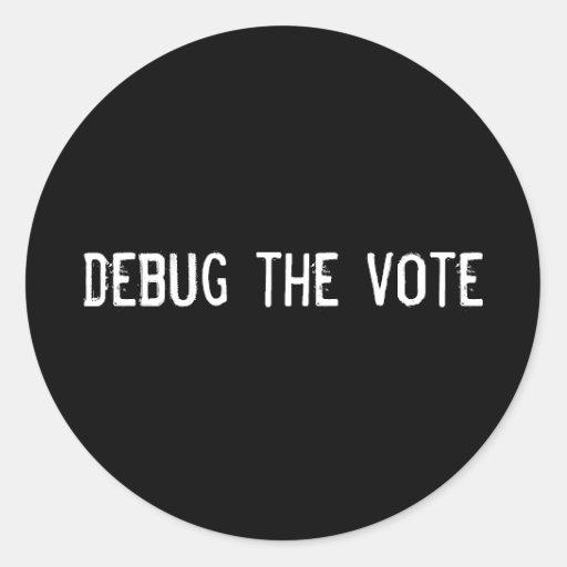elimine errores del voto etiqueta redonda