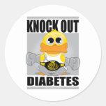 Elimine la diabetes etiquetas redondas