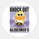 Elimine la enfermedad de Alzheimer Pegatinas Redondas
