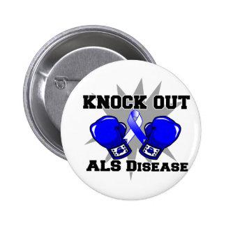 Elimine la enfermedad del ALS Pin Redondo De 2 Pulgadas
