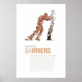 Elimine las barreras: Poster del principio de la c