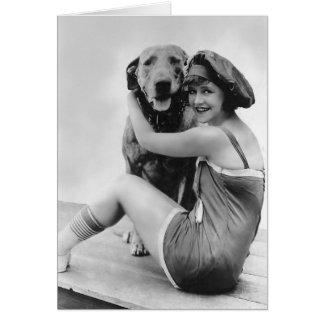 """Elinor Field with """"Keystone Teddy"""" the Wonder Dog Card"""