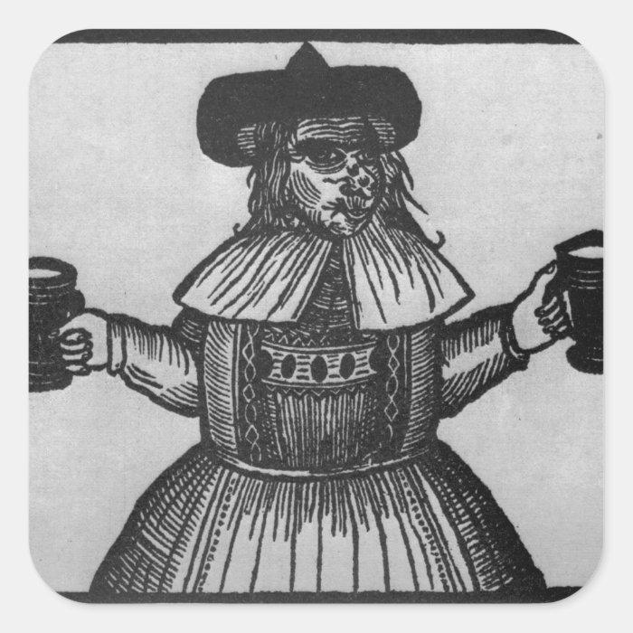 Elinour Rummin, purveyor of Pimlico Ale, c.1609 Square Sticker