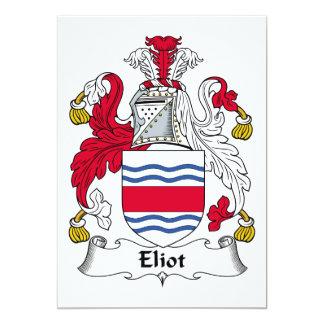 Eliot Family Crest Personalized Invite