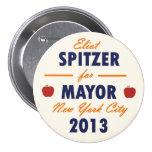 Eliot Spitzer para el alcalde 2013 de NYC Pin Redondo De 3 Pulgadas