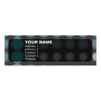 elipses : neon blue : mini business card