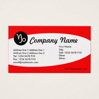 Eliptical Zodiac Gold - Capricorn Business Card