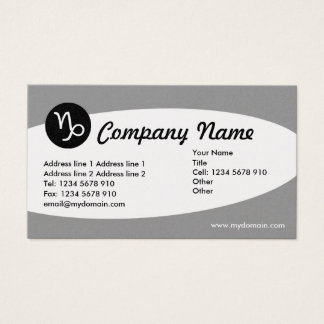 Eliptical Zodiac Platinum - Capricorn Business Card