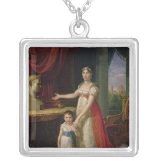 Elisa Bonaparte  Grand Duchess of Tuscany Square Pendant Necklace