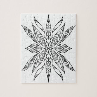 ELISA Hand-Drawn Doodle Flower Puzzle