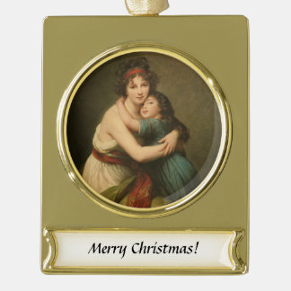 Elisabeth and Her Daughter Gold Plated Banner Ornament