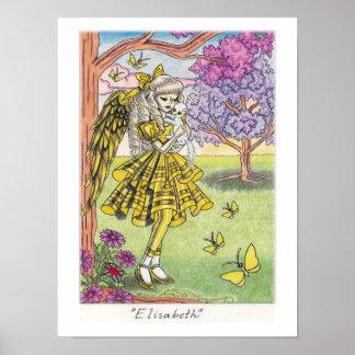 """""""Elisabeth"""" Angel Poster"""