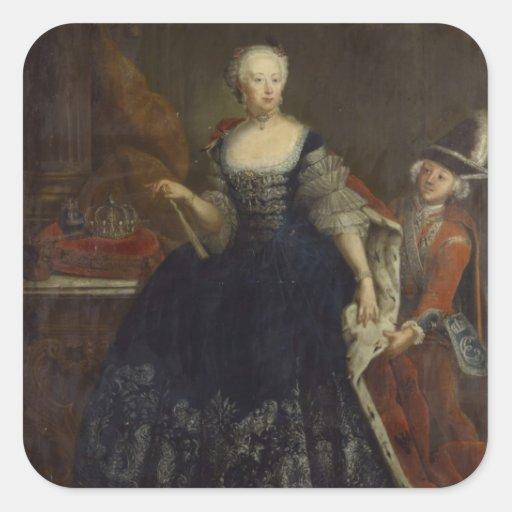 Elisabeth Christine von Brunswick como reina Calcomania Cuadradas