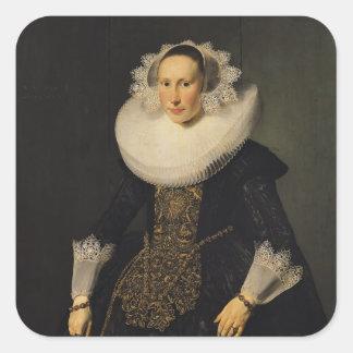 Elisabeth van der Aa, 1628 Square Sticker
