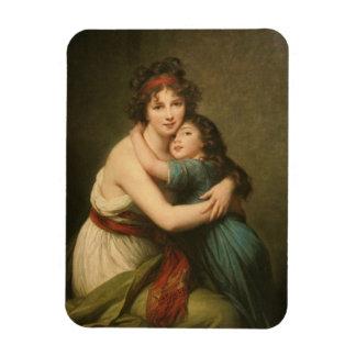 Elisabeth with Her  Daughter 1780-1819 Magnet