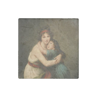 Elisabeth with Her  Daughter 1780-1819 Stone Magnet