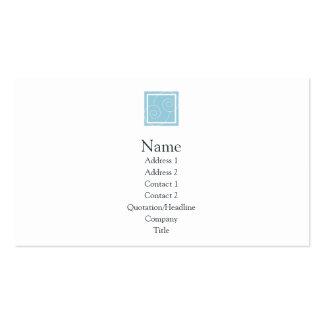 Elise - azul tarjetas de visita