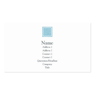 Elise - Blue Double-Sided Standard Business Cards (Pack Of 100)