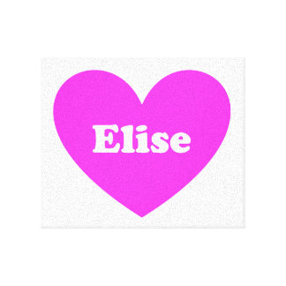 Elise Stretched Canvas Print