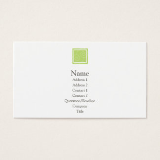 Elise - Green Business Card