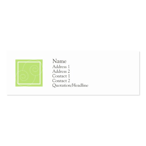 Elise - Green Business Card