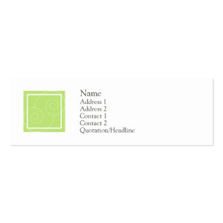 Elise - Green Double-Sided Mini Business Cards (Pack Of 20)