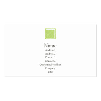 Elise - Green Double-Sided Standard Business Cards (Pack Of 100)