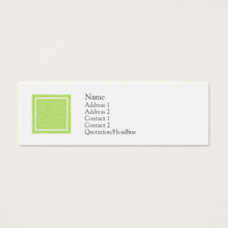 Elise - Green Mini Business Card