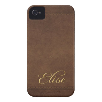 ELISE Leather-look Customised Phone Case iPhone 4 Case-Mate Cases