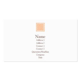 Elise - melocotón tarjetas de visita