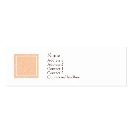 Elise - melocotón tarjetas de visita mini
