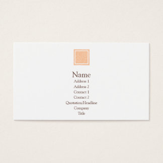 Elise - Peach Business Card